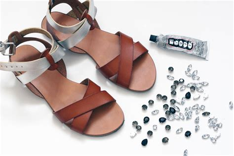 diy jeweled shoes diy basic jeweled sandals my secrets