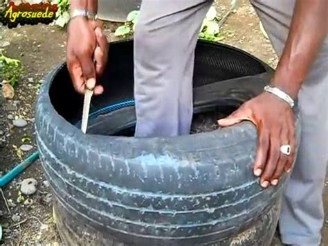 How To Cut Tires For Planters by How To Cut A Tire To Make A Garden Raised Bed Pots