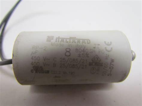 2 uf motor capacitor italfarad 8 uf motor run capacitor rp 2 400vac 450vac ebay