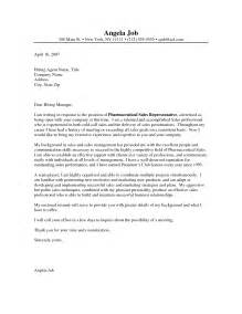 Pharmaceutical Sales Cover Letter Example Entry Level