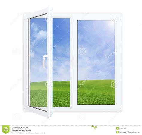 Eingangstür Mit Fenster by Offenes Fenster Mit Malerischer Ansicht Stockfoto Bild