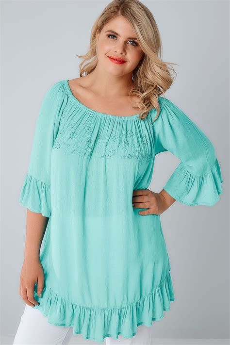 blue beaded top aqua blue bardot top with beaded details flute