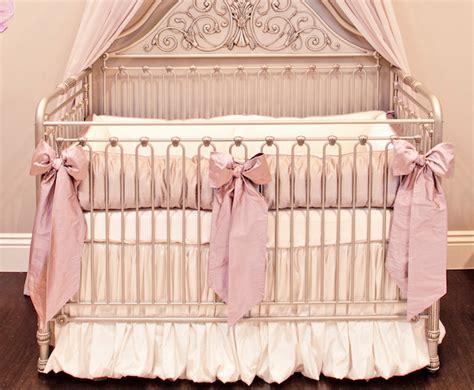 Silk Crib Bedding by Orchid Lilac Silk Crib Bedding Set Crown Interiors
