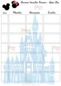 disney itinerary template orlando walt disney world vacation planner vacation