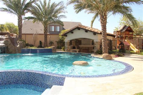 backyard up pools backyard oasis pool spa swim up bar grotto slides