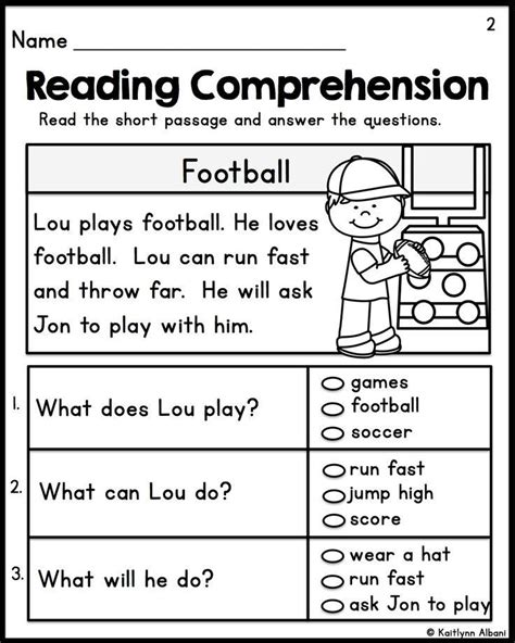 Reading Worksheets For 1st Graders by Reading Comprehension Worksheets For Grade 1