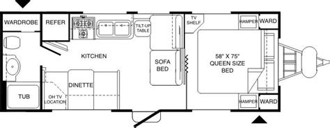 komfort travel trailer floor plans 2004 komfort komfort tt travel trailer rvweb com