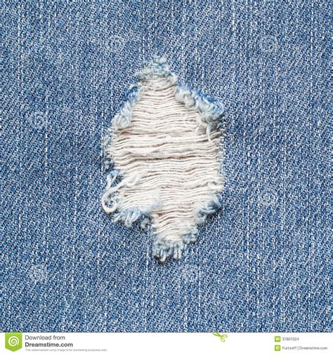 Blue Fabric Armchair Torn Denim Stock Images Image 37801024