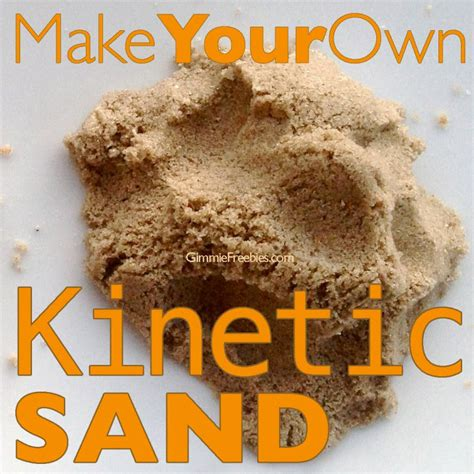 make your own stuff make make your own kinetic sand 10 lbs for 50 cents