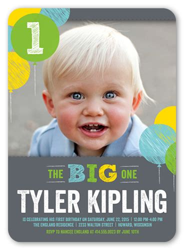 1st birthday invitation for baby boy 1 year birthday invitations 1 year birthday invites shutterfly