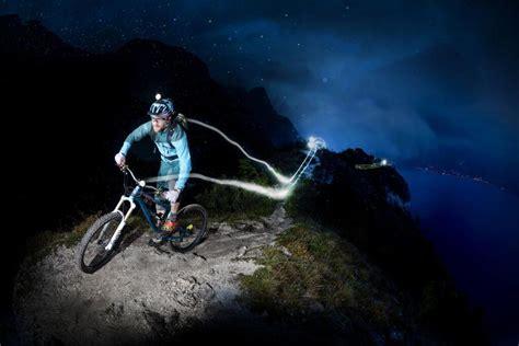 mountain bike night riding lights awesome light trail gallery mountain biking at night