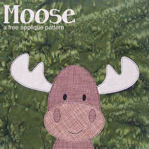 free moose applique pattern shiny happy world