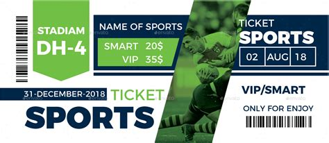 sports event ticket template by expomedia graphicriver