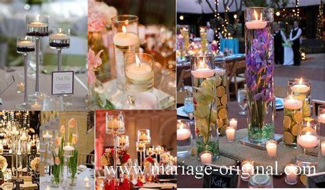 centre de table bougie mariage centre de table de mariage