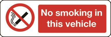 no smoking sign for vehicles prohibition no smoking in this vehicle sign stocksigns