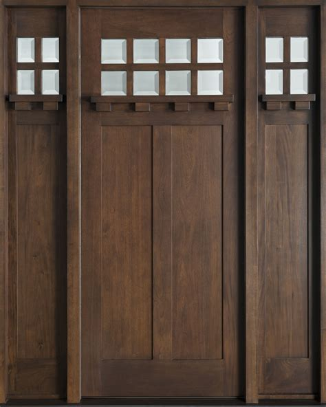 Handmade Oak Doors - craftsman custom front entry doors custom wood doors