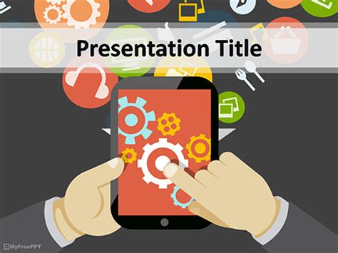 mobile ppt themes free download free mobile powerpoint templates myfreeppt com