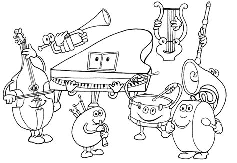 Coloring Page For Music | music coloring pages coloringpages1001 com