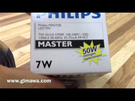 Philips Lu Led 7w 7 W 7watt 7 Watt Putih Cool Daylight 1 lada led philips master ledspot gu10 7w 100 240v