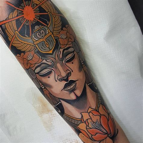 queen tattoo on forearm people tattoo with girl and queen