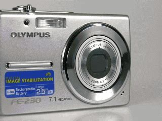 olympus fe 230 zoom review features controls steves digicams