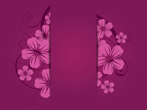 Purple Flowers Backgrounds Flowers Purple Templates Free Ppt Backgrounds And Powerpoint Slides Purple Powerpoint Template