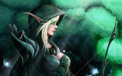 wallpaper elf girl pictures world of warcraft archers elf girls fantasy games