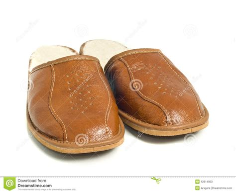men s house brown mens house slippers stock photos image 12814953