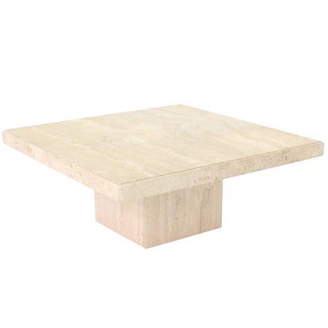 travertine coffee table square square solid travertine coffee table for sale at 1stdibs