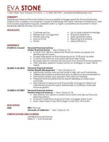 Financial Advisor Resume Example Personal Financial Advisor Resume Example Finance Sample
