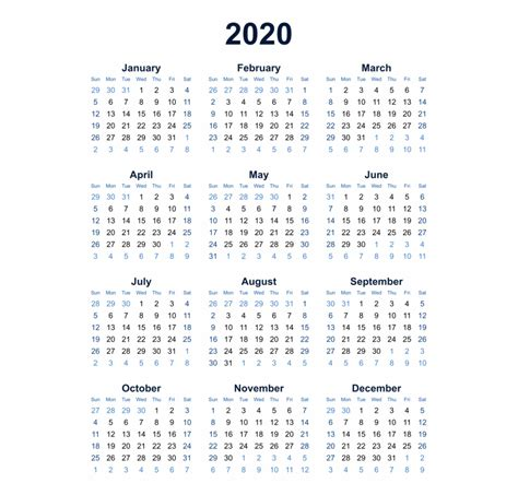 year   glance   calendar template printable monthly yearly