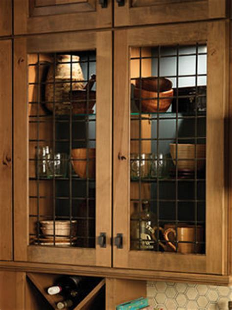 Kitchen Cabinets With Tin Inserts Forged Metal Insert Rustic Kitchen Cabinetry Other Metro By Merillat