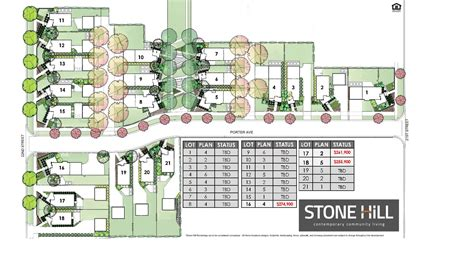 site plan hill homes