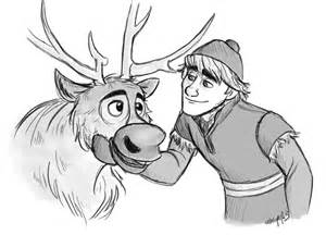 Coloring pages 12 pics of frozen sven baby reindeer coloring page