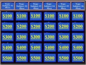 jeopardy templates blank jeopardy powerpoint template template idea