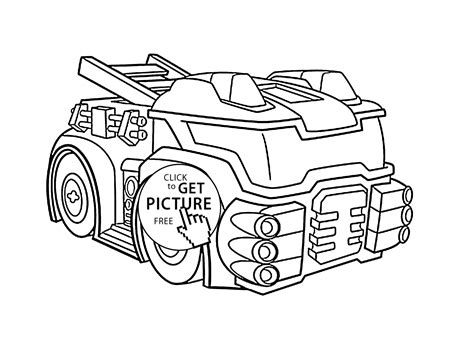 Heatwave The Fire Bot Coloring Pages For Kids Printable Printable Rescue Bots Coloring Pages