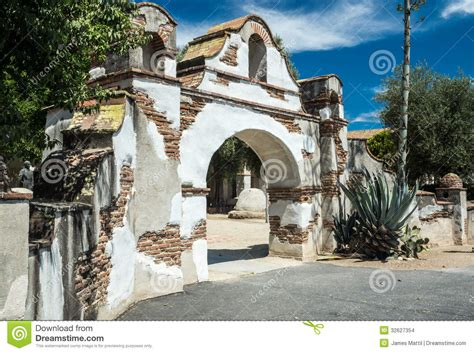 Adobe Homes Plans spanish colonial mission gateway stock images image