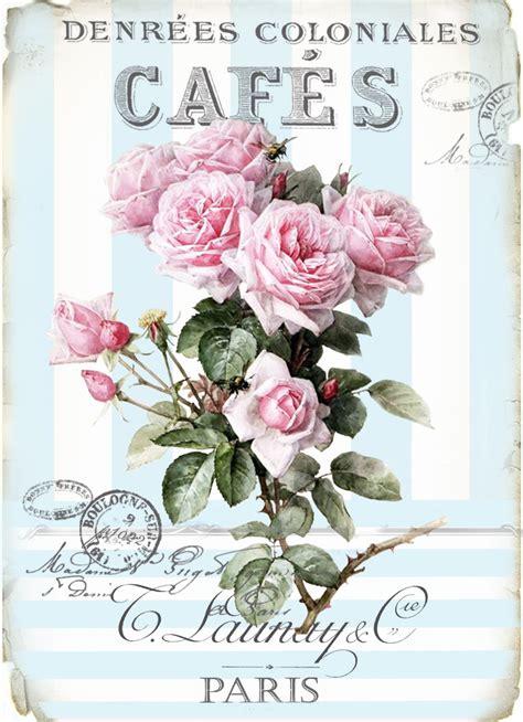 imagenes shabby vintage vintage cafe blue roses digital collage p1022 free