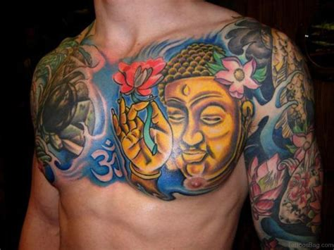41 religious buddha tattoos for chest