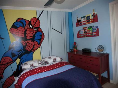 boys spiderman bedroom ideas spiderman wall kids bedroom paint ideas ashton