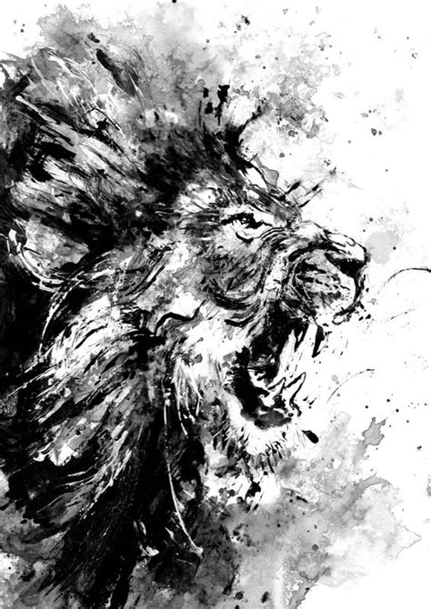 black and white painting ideas 18 black and white wall and home decor ideas 14 lion art