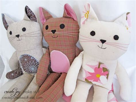 Cat Doll by Cat Doll Sewing Pattern Tutorial Pdf Printable