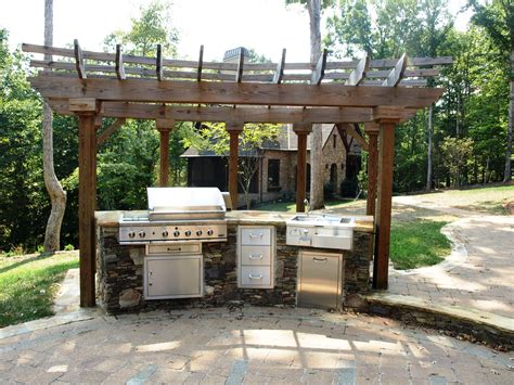simple outdoor kitchen ideas triyae simple backyard kitchen ideas various