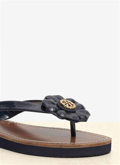 Burch Sandal Sendal Jepit Flip Flop Flower Bunga Original Ori lyst burch adalia flower flip flops in blue