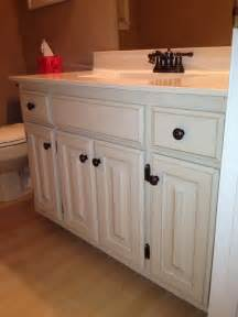 Chalk Paint Bathroom Cabinets Our Bathroom After Painting 80s Honey Oak Cabinets With Sloan Chalk Paint 2 Coats