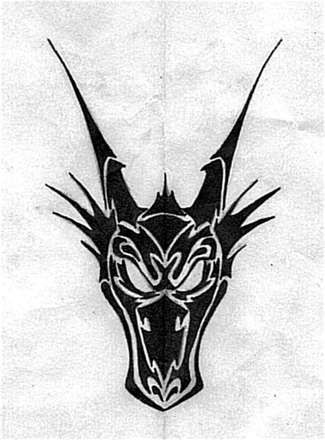 tribal dragon face by butterfly wings on deviantart