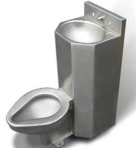 stainless steel combination sink toilet