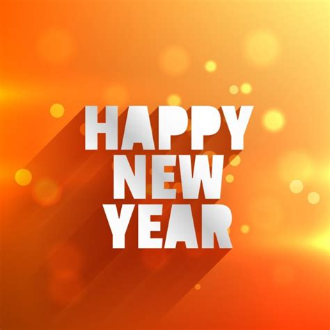 new year orange picture happy new year in orange bokeh background vector free