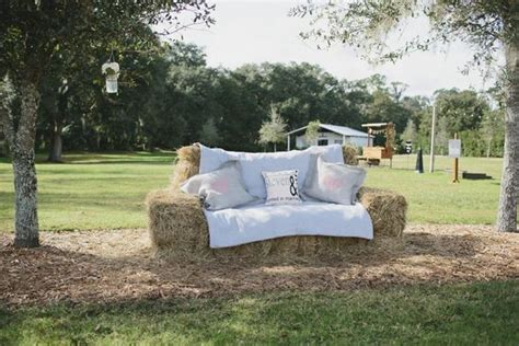 hay bale sofa hay bales lounge seating and hay on pinterest