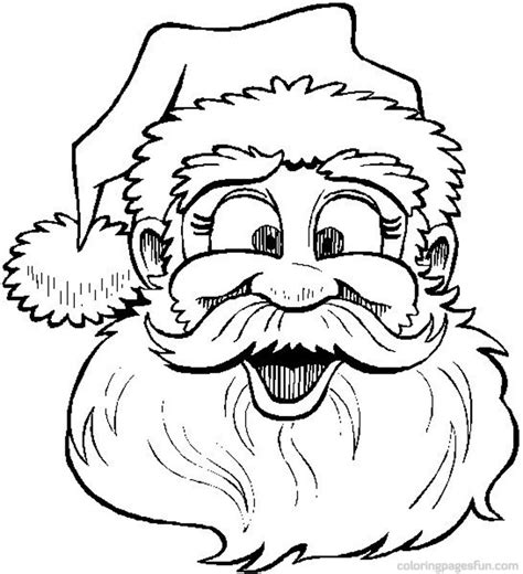 santa coloring page for preschoolers santa claus images for coloring cool images